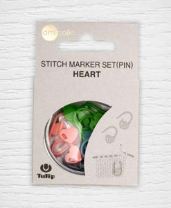 Tulip stitch markers heart set