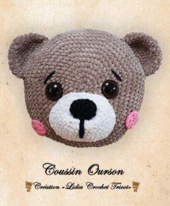 Coussin Ourson (tutoriel Lidia Crochet Tricot)