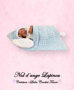 Nid d'ange Lapinou (tutoriel Lidia Crochet Tricot)