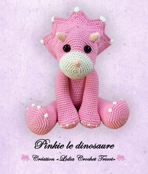 Pinkie le dinosaure (tutoriel Lidia Crochet Tricot)