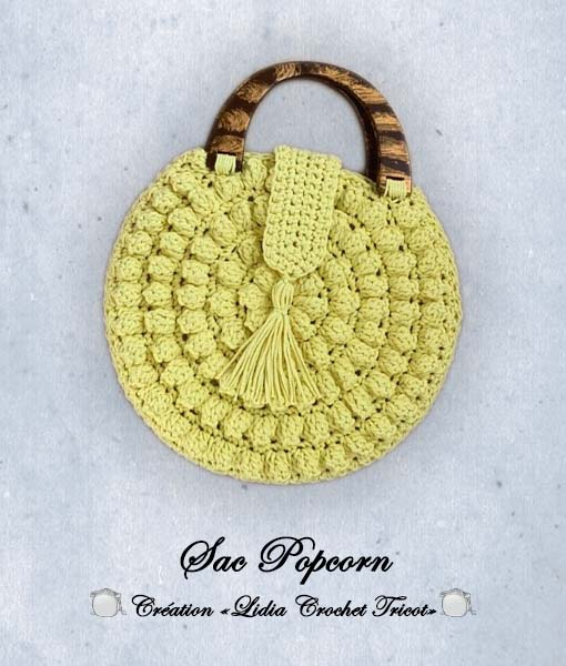 Sac Popcorn (tutoriel Lidia Crochet Tricot)