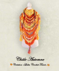 Châle Automne (tutoriel Lidia Crochet Tricot)