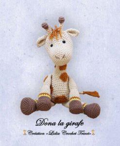 Dona la girafe (tutoriel Lidia Crochet Tricot)