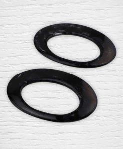 Anses de sac forme ovale noires Lidia Crochet Tricot
