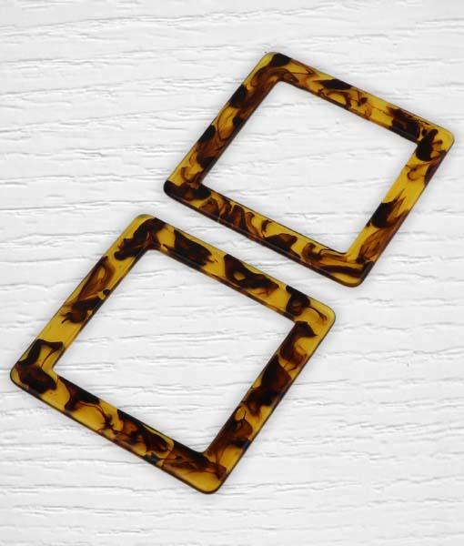Anses plastique carré tortue Lidia Crochet Tricot