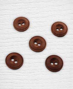 Boutons bois marron Lidia Crochet Tricot
