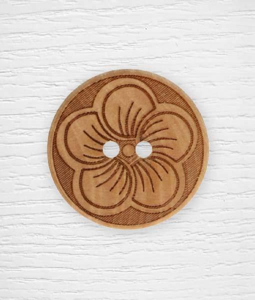 Boutons fleur bois Lidia Crochet Tricot