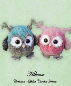 Hiboux ( tutoriel Lidia Crochet Tricot)