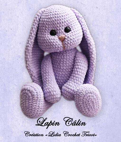 Lapin Câlin ( tutoriel Lidia Crochet Tricot)