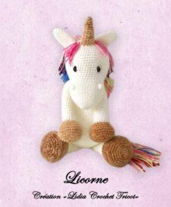 Licorne ( tutoriel Lidia Crochet Tricot)