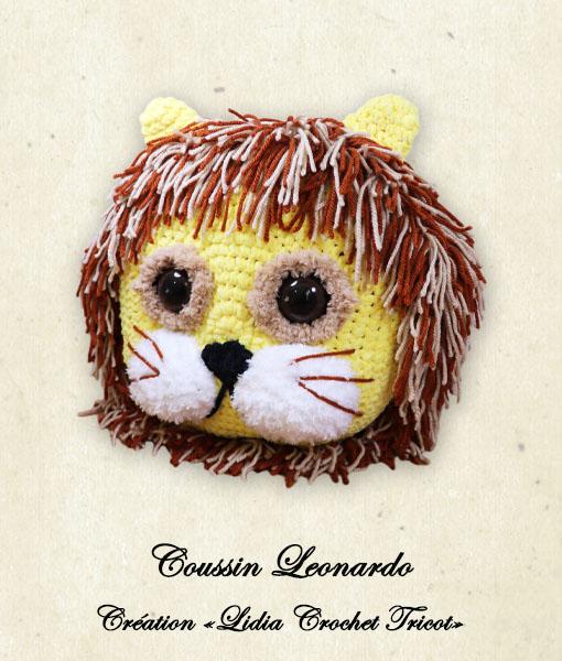 Coussin Leonardo (tutoriel Lidia Crochet Tricot)