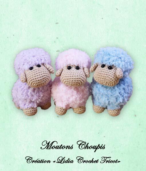 Moutons Choupis (tutoriel Lidia Crochet Tricot)