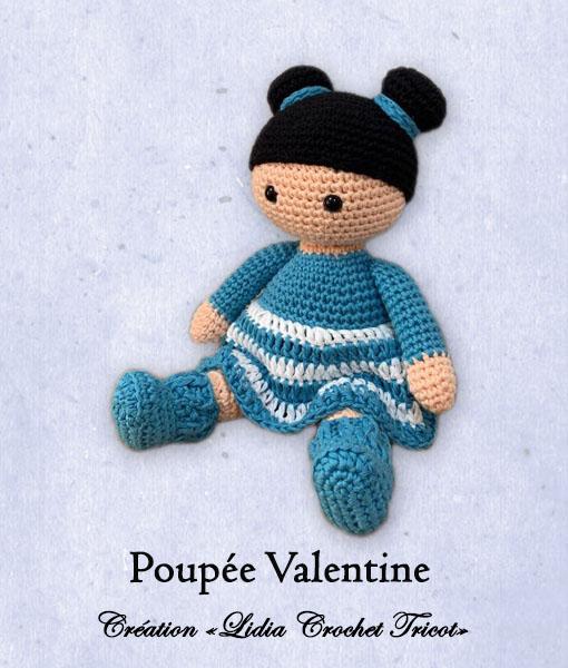 Poupée Valentine (tutoriel Lidia Crochet Tricot)