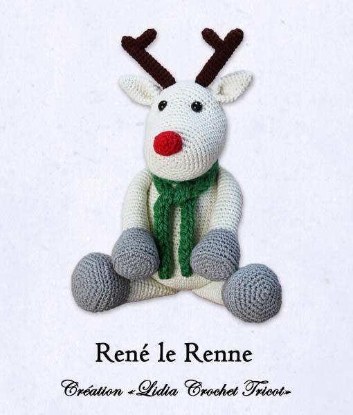 René le Renne (tutoriel Lidia Crochet Tricot)