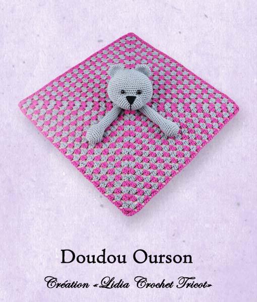 Doudou Ourson (tutoriel Lidia Crochet Tricot)