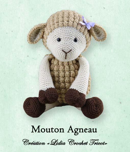 Mouton Agneau (tutoriel Lidia Crochet Tricot)