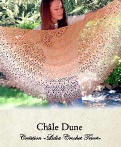 Châle Dune (tutoriel Lidia Crochet Tricot)