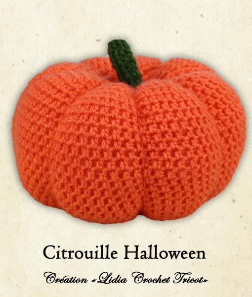 Citrouille Halloween (tutoriel Lidia Crochet Tricot)