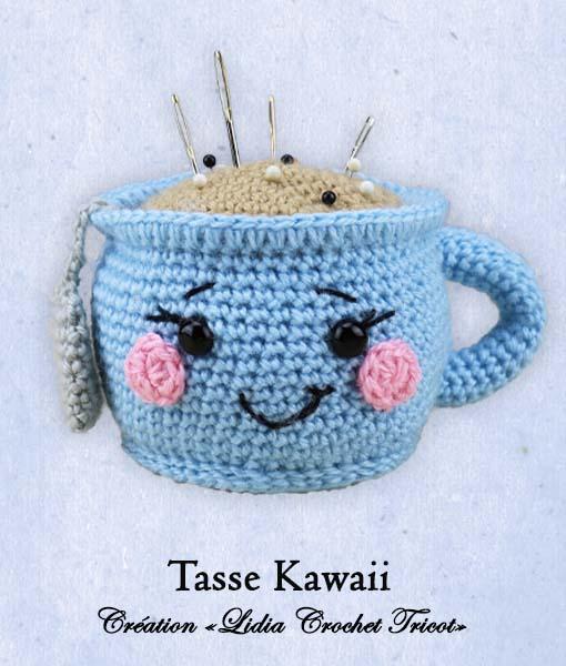 Tasse Kawaii (tutoriel Lidia Crochet Tricot)